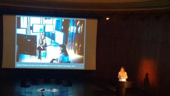 Me. Dwarfed by the beautiful The Lydia & Manfred Gorvy Lecture Theatre at the V&A